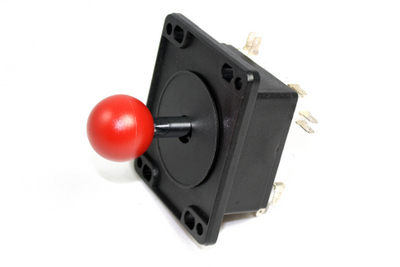 VG80-03212-10 - JOYSTICK, 4-WAY, RED KNOB :